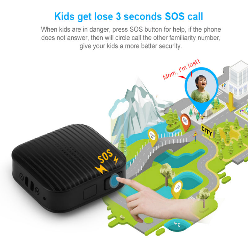 Precise GPS Pet Tracking Device Locator A18 support GPS LBS Tracking With Google Maps Alarm GPS for children cat dog pet elderly