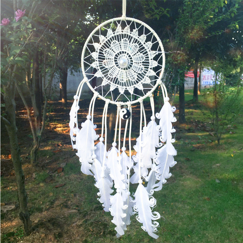 14*40CM Dream Catcher Home Decor, blue Feather Dreamcatcher Wind Chimes Indian Style Mascot Car or Wall hanging Decoration