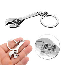 100% Brand New High Quality Cute Mini Creative Tool Wrench Spanner Key Chain Ring Keyring Metal Keychain Adjustable L*5(China)
