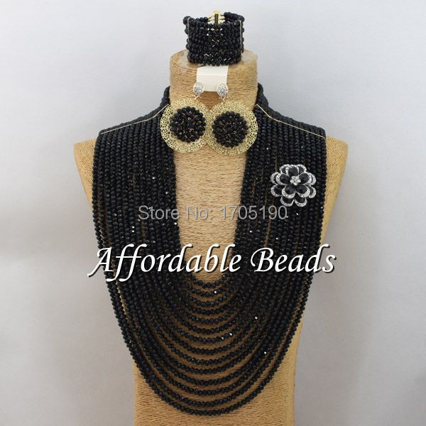 Black Fashion Jewelry Beads Set Popular Costume Jewelry Set Wholesale ABW038Black Fashion Jewelry Beads Set Popular Costume Jewelry Set Wholesale ABW038