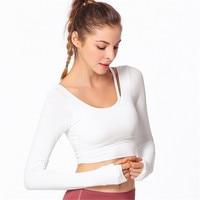 ESHINES Women Dry Quick Running T Shirt Sexy Fall Long Sleeve Yoga TShirts Tops Slim Fitness Running Gym Sport T shirts Girls