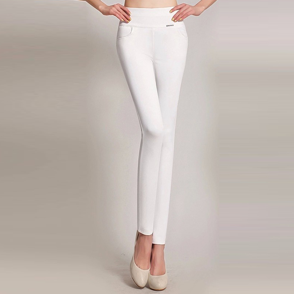 Image 4 - Women High Waist Stretch Leggings Vintage Plus Size Slim Long Trousers Sexy Bodycon Leggings Office Casual Pencil Pants Women-in Leggings from Women's Clothing