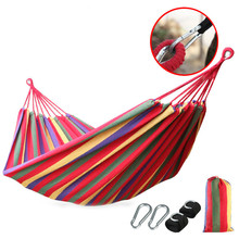 Dew Single double canvas Thickened hammock Outdoor camping Swing room Hammock(China)
