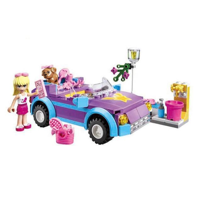 BOHS Girl Series Friends Convertible Sports Car Building Blocks Toys For Children