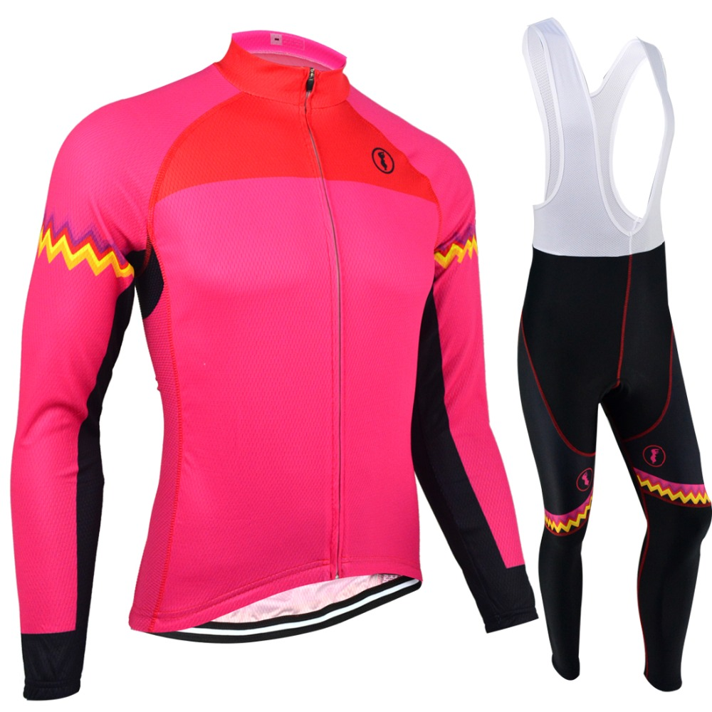 ФОТО BXIO Winter Cycling Jerseys Women Long Thermal Fleece Bicycle Clothing Seamless Stitching Pro 5D Gel Pad Maillot Ciclismo 128