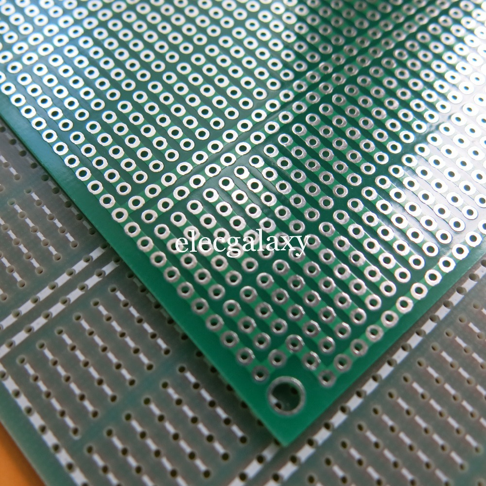 2 Pcs Lot Single Side Fr4 Fiberglass 10x15cm Stripboard Veroboard Diy Project Paper Pcb Universal Circuit Board 5x7cm 2pcs 93x11cm 5er Joint Hole