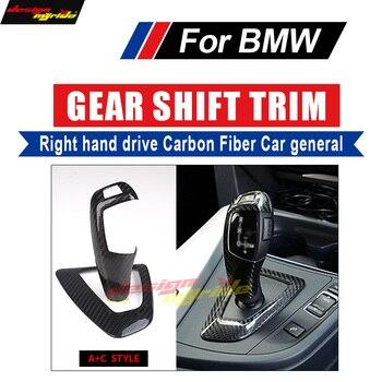 BMW için X5 X6 E71 E70 F15 F16 E53 Sağ el sürücü Karbon manuel vites topuzu Kapak ve Surround Kapak İç trim A + C Tarzı