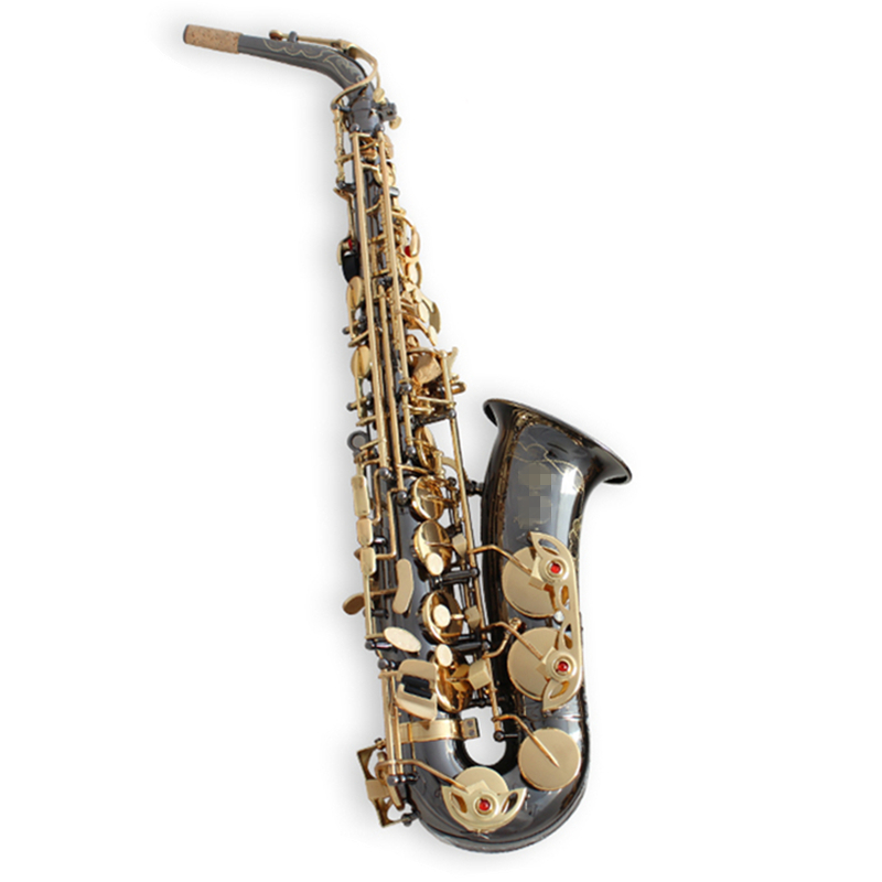 High Quality France Saxophone Alto Sax R54 Professional bE Alto saxofon Musical Instruments saxo Black Nickel Gold saxofone alto sax dhl free shipping new high quality france eb alto selmer 54 and saxophone matte black pearl professional instrument
