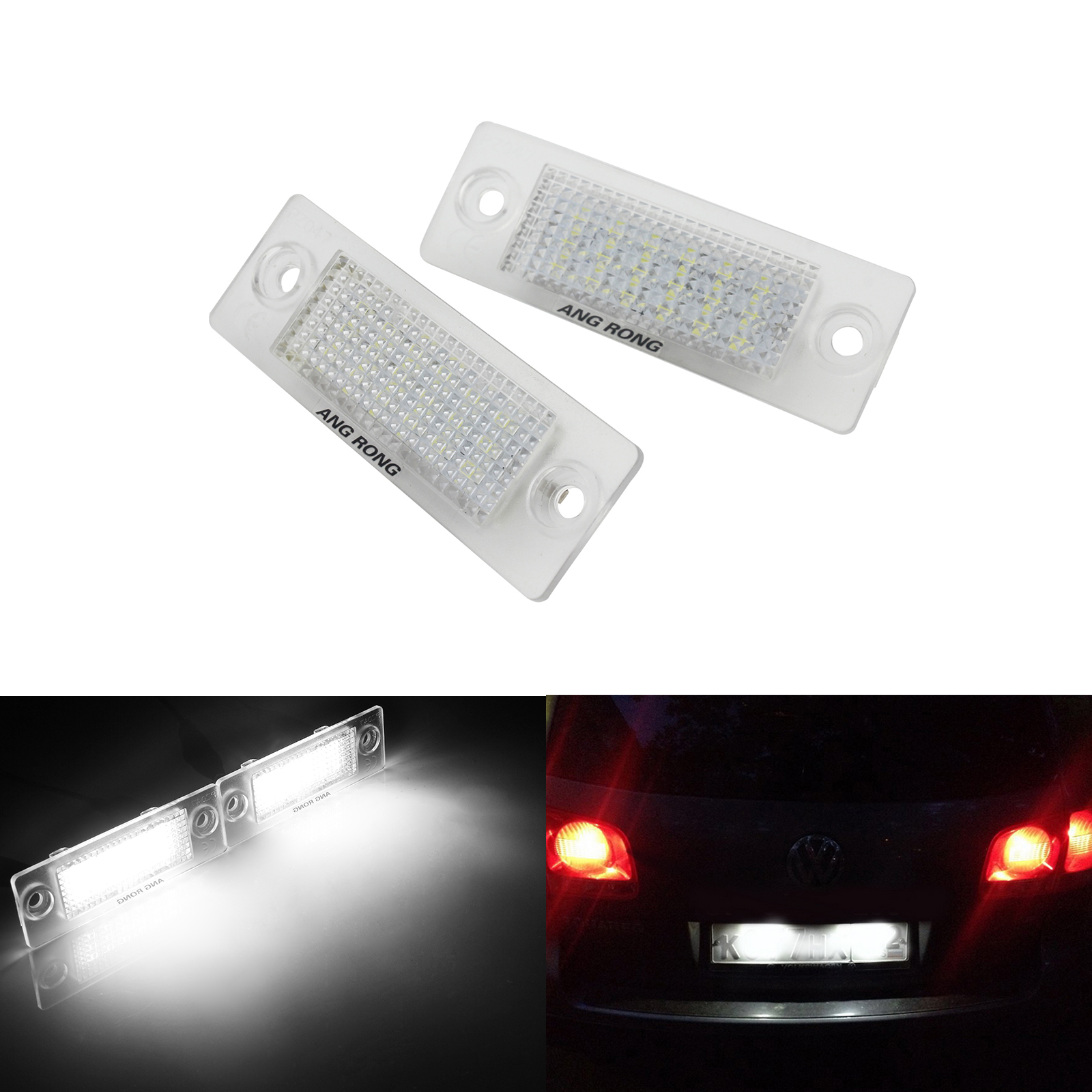 Detail Feedback Questions about ANGRONG 2X LED License Number Plate Light  For VW Touran Caddy Golf Plus Skoda Jetta Passat T5 on Aliexpress.com  3b67f3713bd9