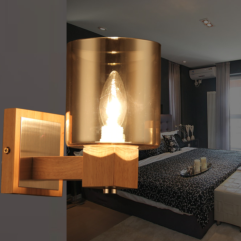 Modern Simple Wooden LED Wall Lamp Lights Fixtures For Home Indoor LIghting LED Wall Sconce Wandlamp Lamparas De Pared modern acrylic led wall lights bedroom bedside wall lamp lampara de pared bed room decoration lighting wall sconces