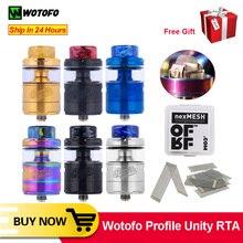 원래 wotofo 프로필 unity rta 탱크 ofrf nexmesh 트리플 밀도 그리드 메쉬 전자 담배 기화기 25mm atomizer vape 탱크