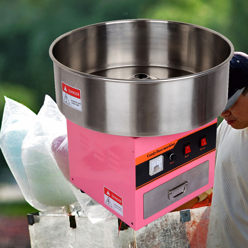 (Ship from Germany) Portable Commercial Electric Candy Fairy Floss Maker Cotton Candy Machine DIY Kitchen Tool 1030w electric commercial cotton candy maker fairy floss machine stainless steel pink