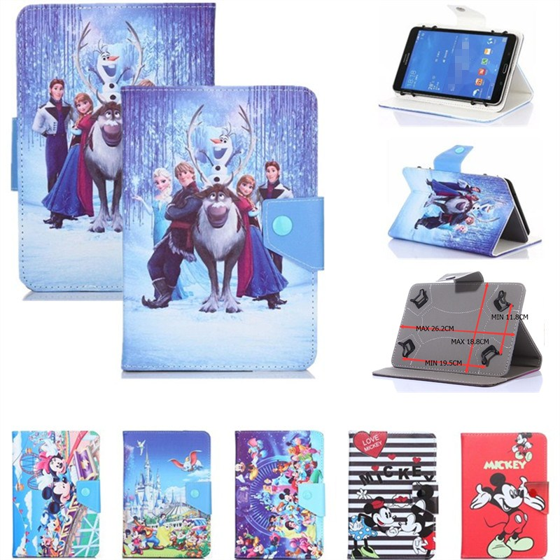 HISTERS Cartoon Cover for Digma Plane 1505/1512/1516S/1523/1524/1525 3G <font><b>10.1</b></font> Inch <font><b>Tablet</b></font> UNIVERSAL PU Leather <font><b>Case</b></font> for <font><b>Kids</b></font> image