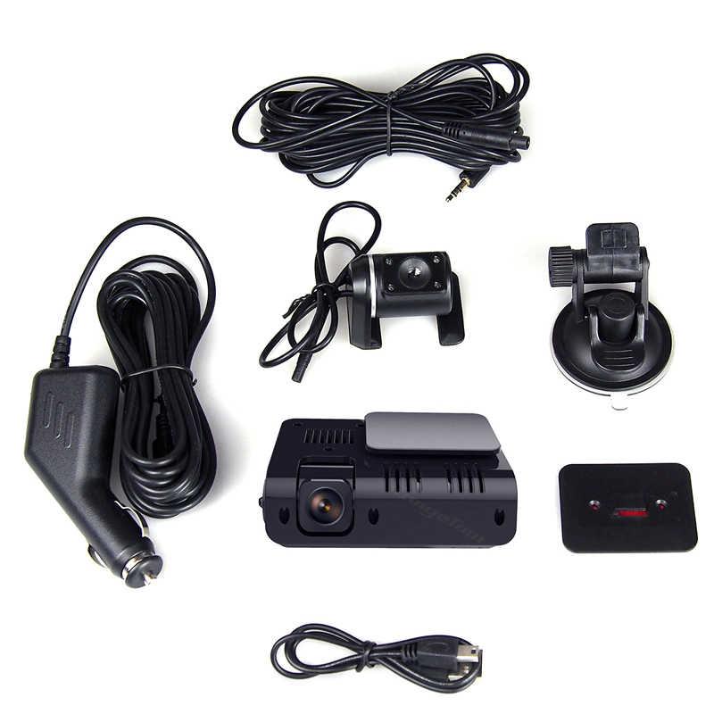 Двойной объектив Мини Скрытая автомобиль dvr Камера B10 плюс Авто видеорегистратор Full HD 1080 p 170 градусов G-Сенсор видеокамера авторегистратор