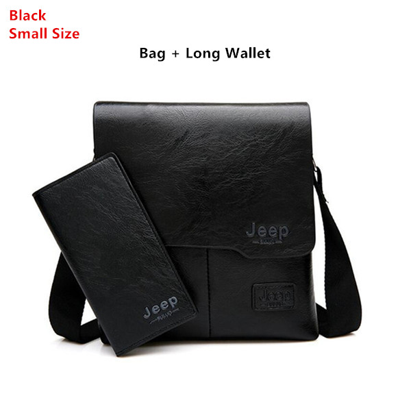 Men Tote Bags Set JEEP BULUO Famous Brand New Fashion Man Leather Messenger Bag Male Cross Body Shoulder Business Bags For Men
