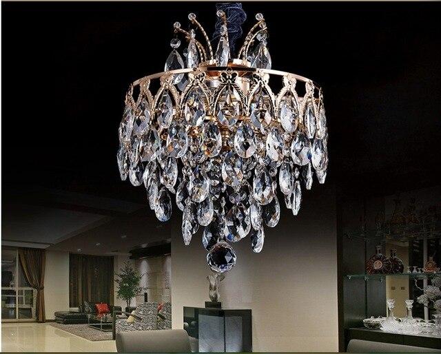 Kronleuchter Lampe ~ D280mm goldene moderne beleuchtung led kristalllampe deckenleuchte