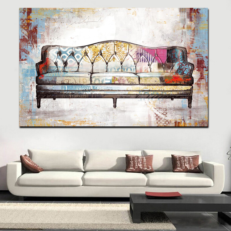Aliexpress.com : Buy Print Watercolor Retro Couch Abstract