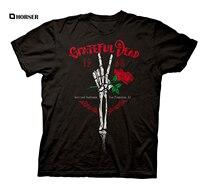 Dalgalanma Kavşak Minnettar Ölü Iskelet Barış Parmaklar El Yetişkin T-Shirt