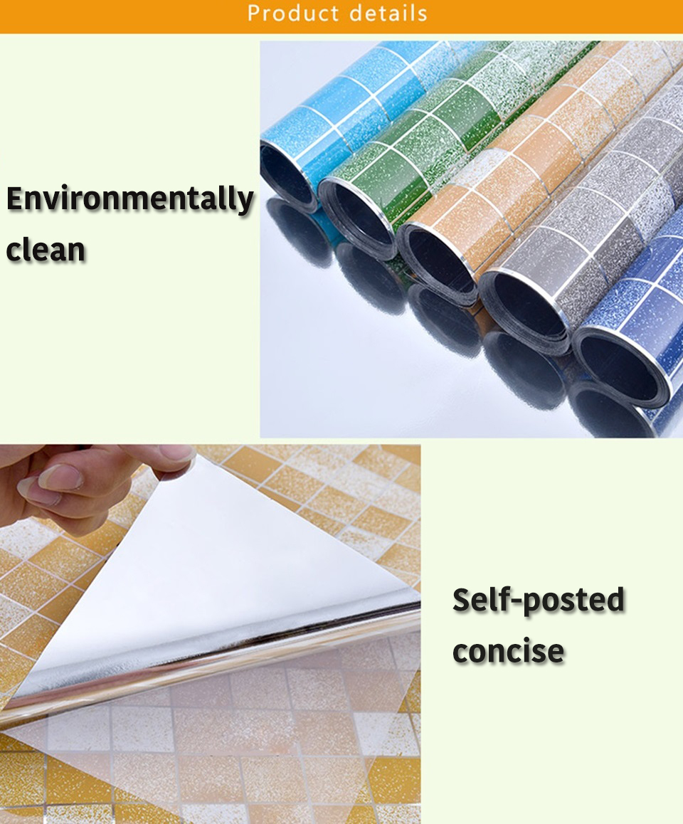 10M PVC mozaīkas sienas uzlīmes vannas istabai ar ūdensizturību - Mājas dekors - Foto 6