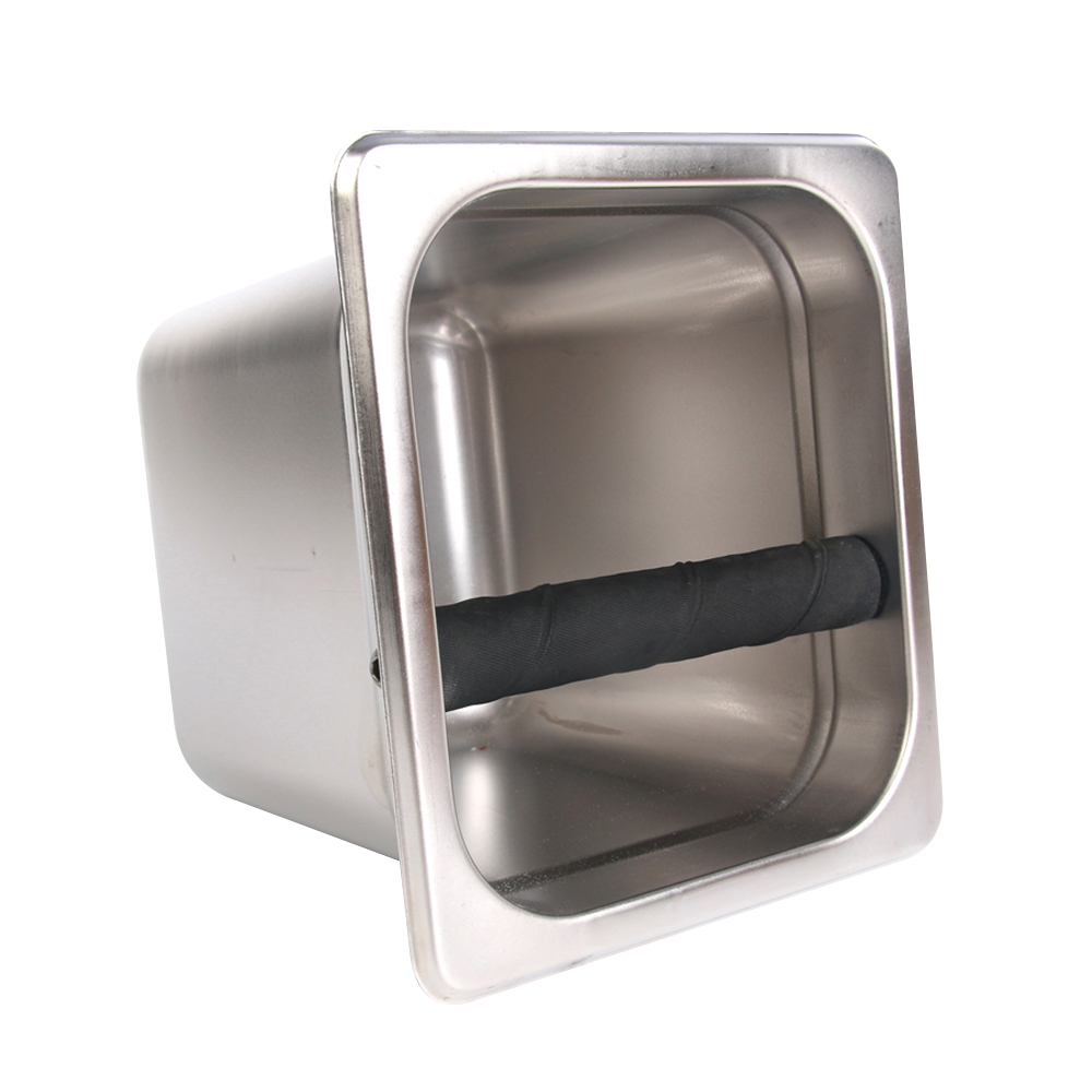 Stainless Steel Coffee Knock Box Espresso Grounds container Residue Bucket  Tools for Barista