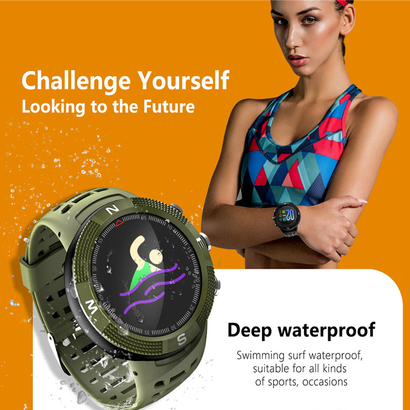 Greentiger F18 Smartwatch GPS podomètre IP68 étanche appel Message rappel hommes femmes Bluetooth Sport montre intelligente Android IOS-in Montres connectées from Electronique    3
