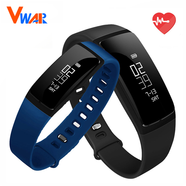 Vwar V07 Bluetooth Smartband Heart Rate Blood Pressure Monitor Watch Smart Bracelet Fitness Tracker Waterproof For IOS Android
