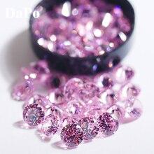 6 мм супер сверкающие хрустальные прозрачные круглые Форма кубического циркония светильник Розовый Элегантный Прекрасный драгоценный камень с украшением в виде кристаллов, искусственные поделки без отверстий, Камень 50 шт./упак