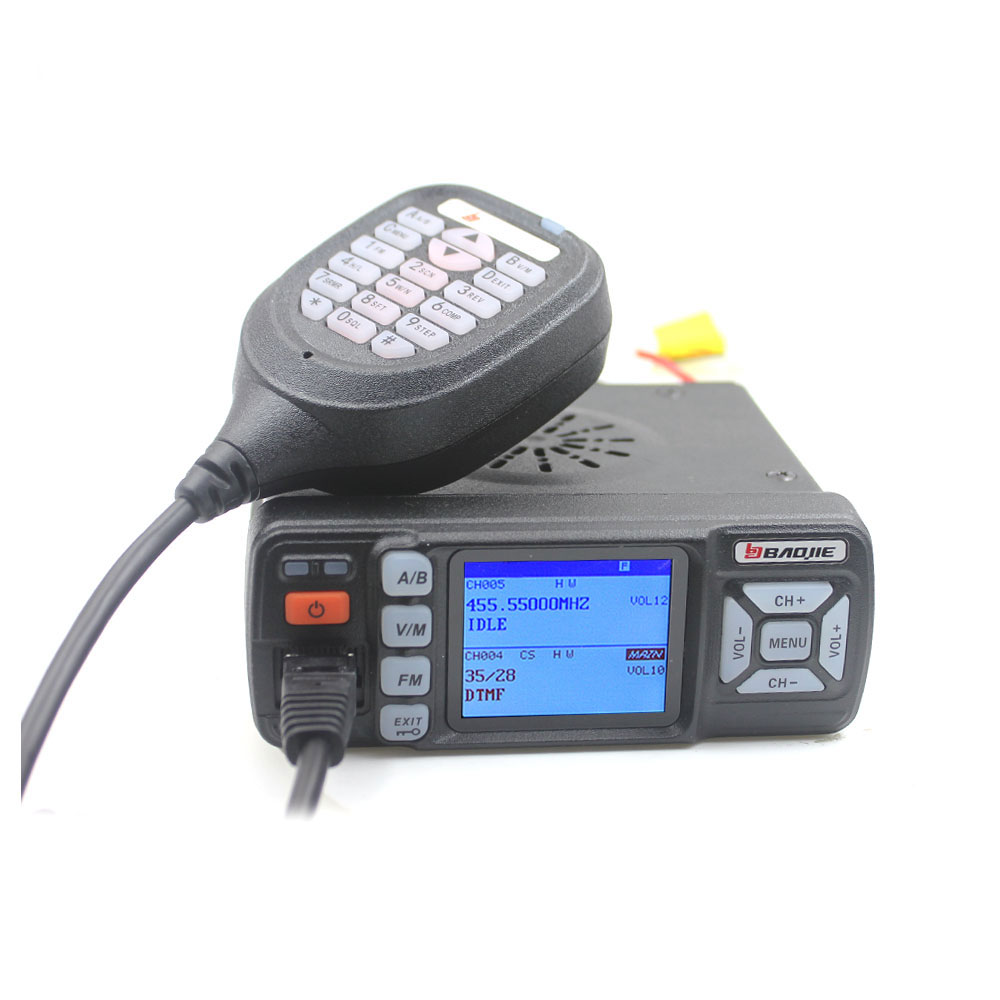 BAOJIE Dual Band Car Mobile Radio BJ 318 VHF 136 174Mhz UHF 400 490MHz 256CH 25W