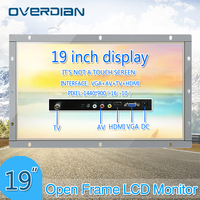 19Inch Non Touch Screen Open Frame Metal Shell Industrial Monitor VGA/HDMI/TV/AV Interface TFT Type 16:10 widescreen Display