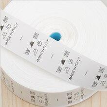 1000 шт/рулон на заказ белая одежда нейлоновая тафта этикетка для ухода за стиркой бирка для одежды ярлыки для стирки lb-025