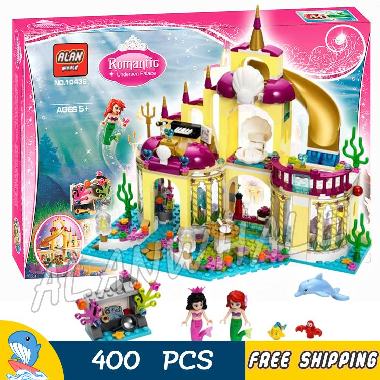 400pcs Princess Series Ariel's Undersea Palace SY374 Model Building Blocks Assemble Toys Bricks Dream Gift Compatible With Lego