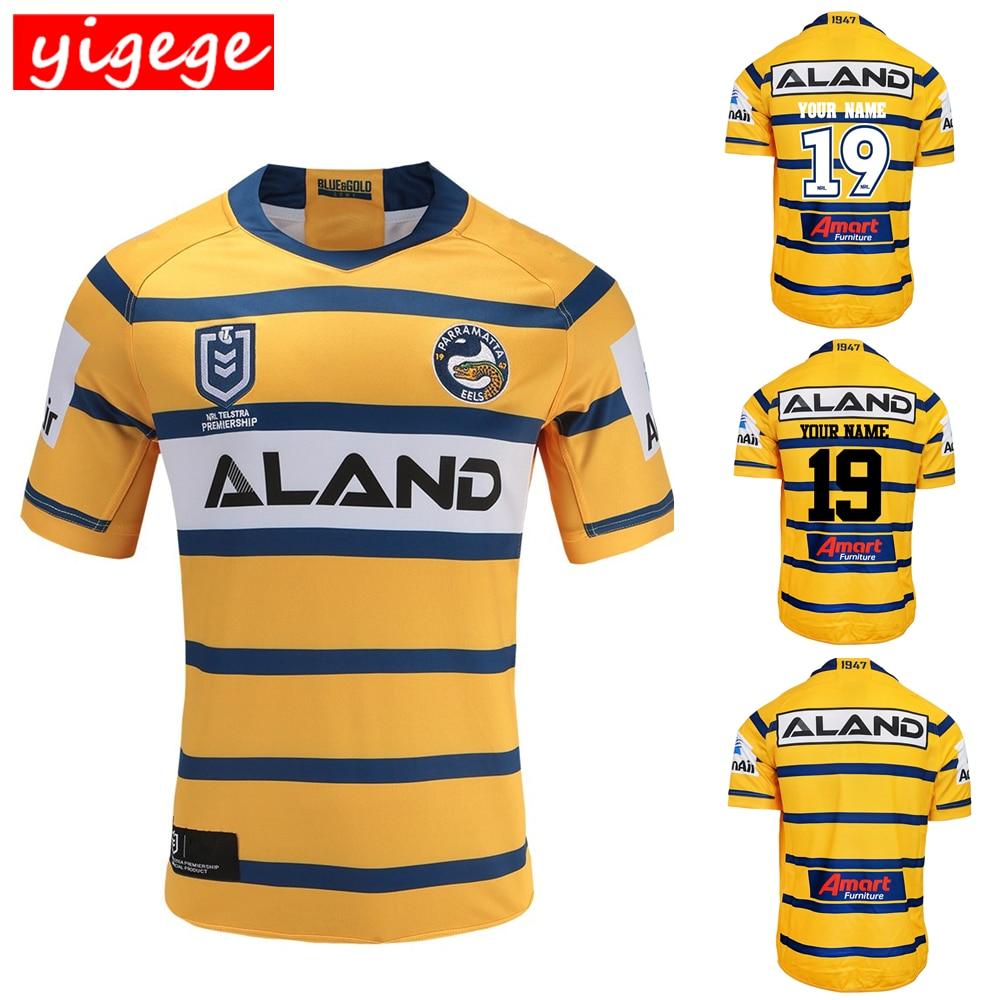 30960e3cad0e Индивидуальные имена и номера Австралия 2019 Parramatta угрей дома вдали  майка для регби NRL Национальный регби Лига рубашка nrl Джерси