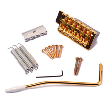 цена на Set of Tremolo Bridge System Screws Retractor Crank Wrench Springs Kit For  Fender Stratocaster Guitars Gold