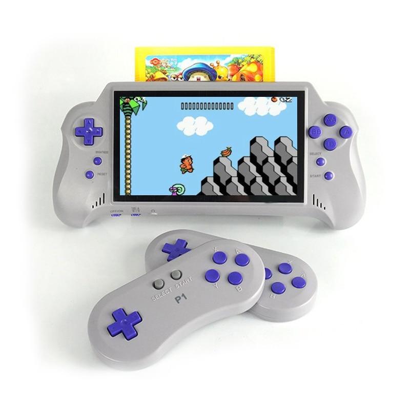 Videospiele 7 Inch Unterstützung 8 Bit 60pin Original Spiel Patrone Spiel Karte 2 Wireless Controller Eingebaute 121 Klassische Handheld Spiel Spieler Starke Verpackung Unterhaltungselektronik
