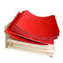 Вулканизированная волоконная бумага, сделай сам, Ручка ножа, прокладка, нарукавники, изолирующая бумага, красный, черный, 100*100 мм