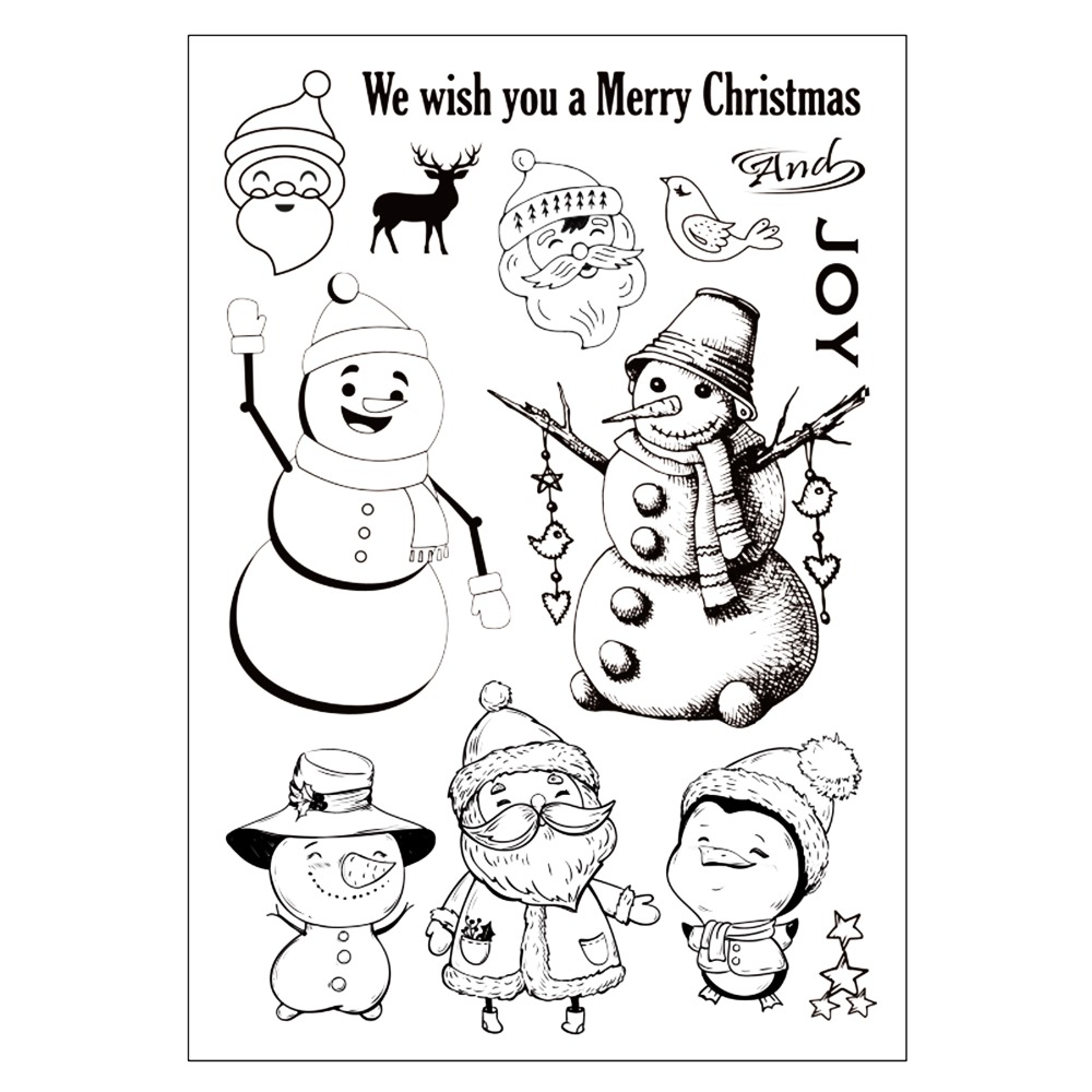 Christmas Cute Snowmen Rubber Stamp for DIY Scrapbooking/photo Album Decorative Craft Clear Stamp Chapter
