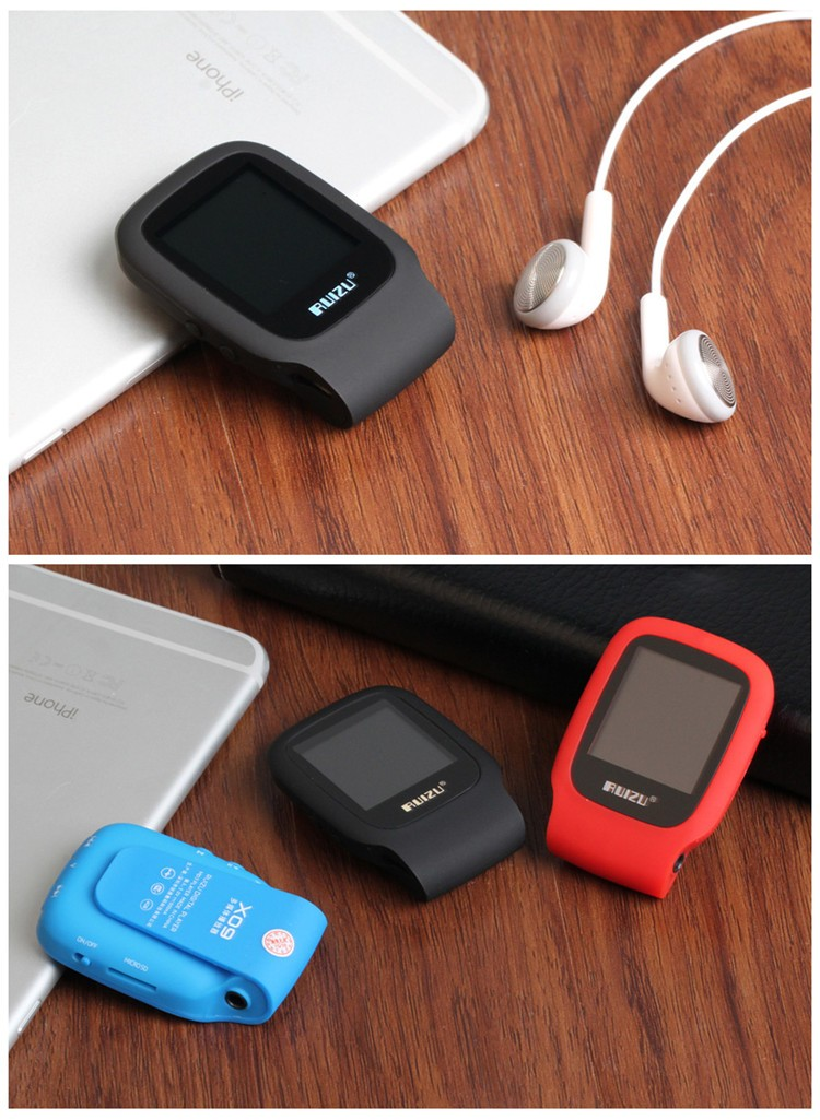 RUIZU X09 MINI MP3 Player Running Sports Clip Mp3 Walkman Support TF Card Music Player With 1.5 inch Screen E-Book Recording FM (16)