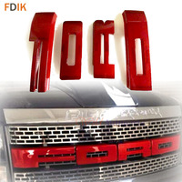 ABS передний капот решетка 3D с красными буквами Часть Аксессуары для 2009 2014 Ford F150 Raptor SVT