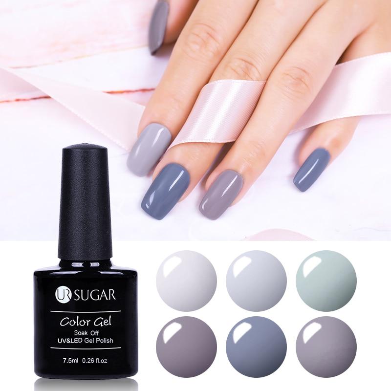 7.5ml UR SUGAR Soak Off UV Purple Series Glitter Gel