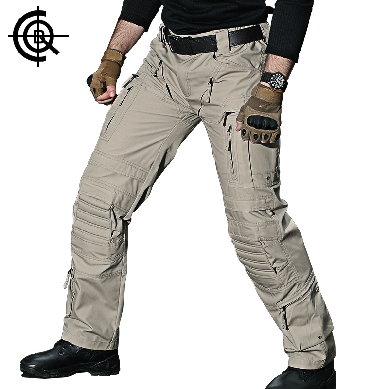 CQB Outdoor Pants Men Tactical Multi Pocket Water Repellent Wear-resisting Climbing Hiking Trekking Trousers CKZ0562 ...