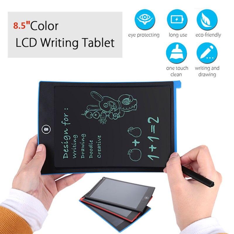 Графическая доска почерк колодки lcd письма для планшетов, lcd-экран 8,5 дюймов цветной шрифт memo pad черчение граффити мини живопись