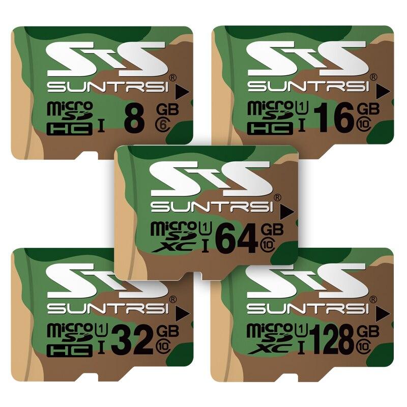 Suntrsi Micro SD Card 128 gb 64 gb 32 gb 16 gb Micro SD Class 10 Ad alta Velocità per Telefoni Cellulari con Fotocamera 8 gb classe 6 Scheda di Memoria Reale Capacità