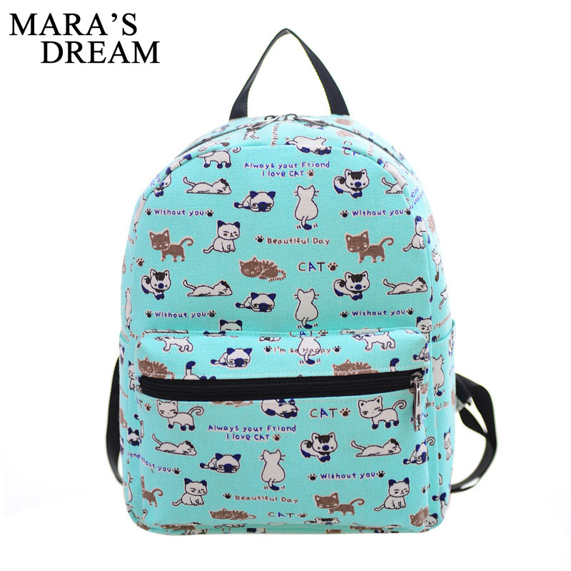 Mara's Dream Women Printing Backpacks Backpack For Women Rucksack Schoolbags Fashion Canvas Bags Retro School Bags Travel Bags tangimp drawstring backpacks embroidery dear my universe cherry rocket printing canvas softback man women harajuku bags 2018