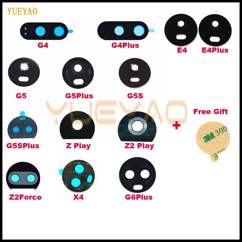 Camera Lens For Motorola Moto X4 G6 Plus Play G5 G5s Plus G4 E4 Plus Z2 Force Play Back Rear Camera Glass Lens+Adhesive Sticker