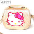 2016 New  Lovely Children's Cartoon  Princess Girl Bag Package Inclined Shoulder Bag Hello Kitty Girl Package Birthday Present