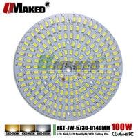 UMAKED 100W 140mm LED PCB SMD5730 Chip Light Source Aluminum Lamp plate Warm/Natural/White DIY Ceiling Bulb Bay lights Spotlight
