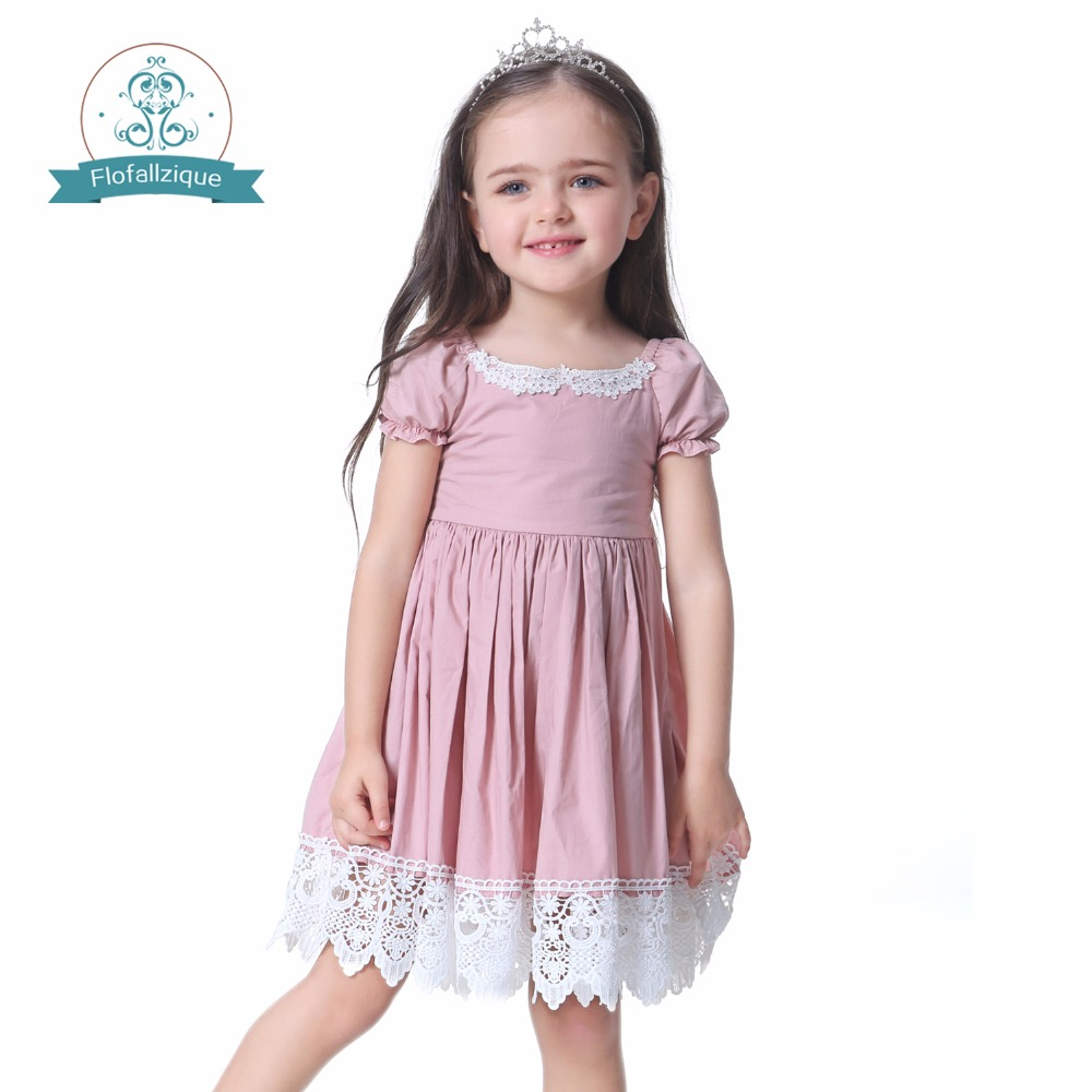 Toddler Girl Dress Solid Pink Lace Wedding Party Dress 2018 Brand Summer Princess Dresses Clothes vestido infantil ems dhl free shipping toddler little girl s 2017 princess ruffles layers sleeveless lace dress summer style suspender