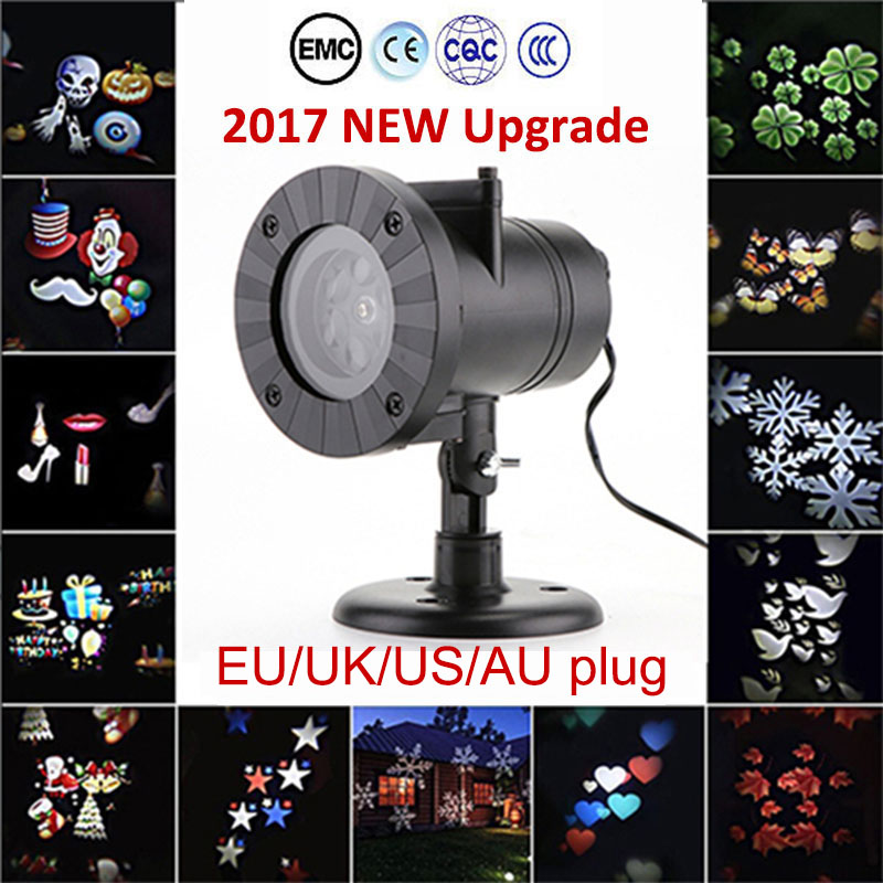 Chrismas Decoration laser fairy light projection Laser Snowflake Projector Lamp LED Stage Lights Waterproof Outdoor Home Garden ...