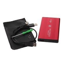 USB 2.0 2.5 Inch Shockproof USB 2.0 Aluminum External Storage SATA Hard Drive HDD Enclosure Box Case Drop Shipping