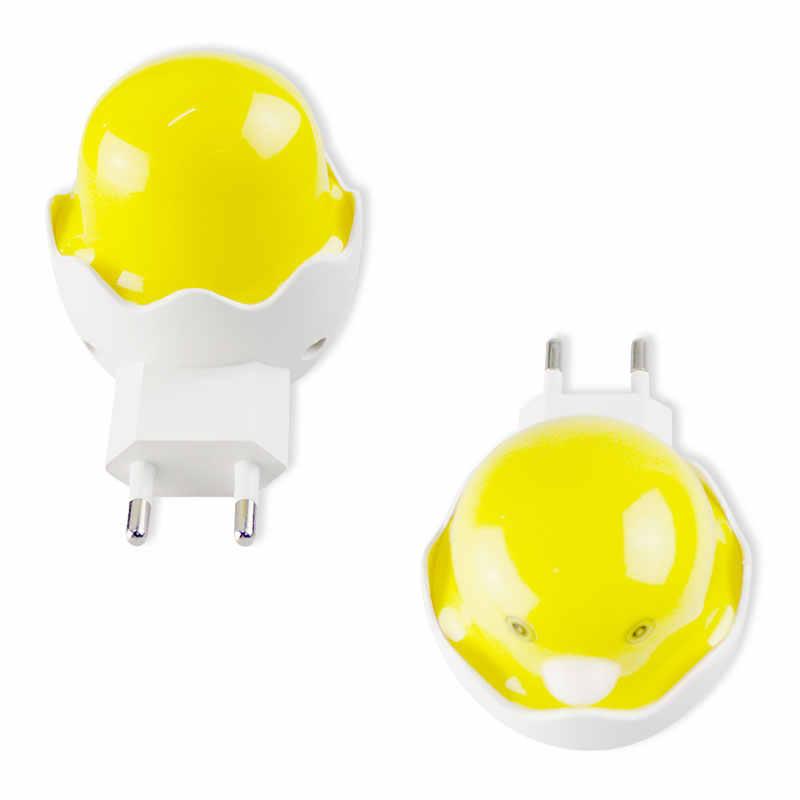 Популярная Ночная милая маленькая Желтая утка ночник детская спальня креативный мультяшный Декор лампа ЕС США вилка атмосфера 1 шт